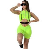 Buckled Neon Lines Jumper