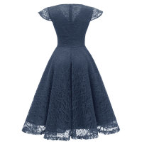 1950s Cap Sleeve Swing Lace Dress