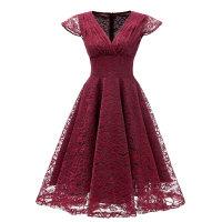 1950s Cap Sleeve Swing Lace Dress
