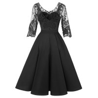 Autumn and Winter Sexy Lace Bridesmaid Dress