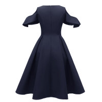 Cape Patchwork Swing Dress