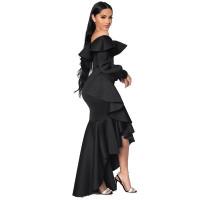 Ruffle Off Shoulder Irregular Bodycon Long Sleeve s Party Maxi Dress