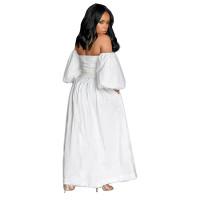 Off Shoulder Lantern Sleeve Wide Maxi Dress