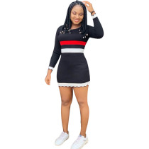 Casual Long Sleeve Mini Bodycon Dress