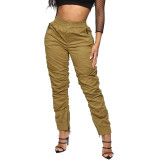 Rosie Ruched Joggers - Olive