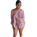 Shimmer Shimmer Sequins Short Set