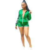 Splicing Ribbon Casual Sports Two Piece Set