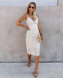 Desra Lace Midi Dress