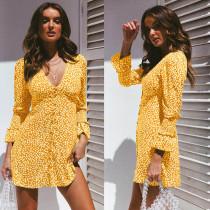 Unwind V Neck Print Dress