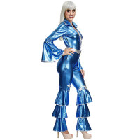 Bronzing Ruffle Jumpsuit Costumes with Belt