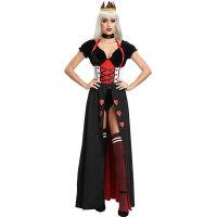 Ladies Enchanting Royal Heart Queen Ball Dress Costume Set