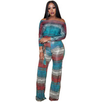 Casual Stripes Two Piece Set