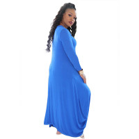 Solid Color Harem Irregularly Swallowtailed Dress
