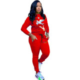 Casual Embroidery Sports 2 Piece Set