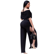 Solid Color Straps Pleated Jumpsuit