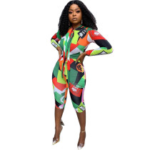 Colorful Printed Jumpsuit