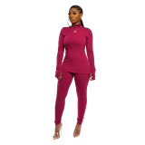 Casual Pit High Neck Pant Set