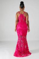 Sexy Applique Straps Mermaid Evening Dress