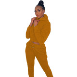 Casual Sports Hooded Two Piece Women Clothings