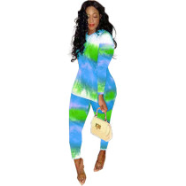 Casual Print Two Piece Set