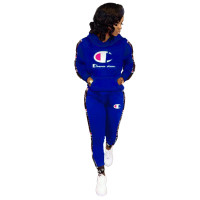 Casual Stitching Sports Two Piece Outfits