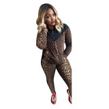 Casual Leopard Pant Set