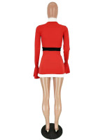 Trumpet Sleeve Christmas Dress