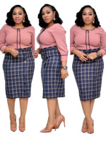 African Fat Stitching Plus Size Midi Dress
