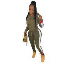 Casual Cardigan Hooded Sportswear 2 Pcs Set