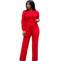 Solid Color Buttons Jumpsuits