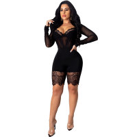 Casual Lace Cartilage Corset Romper