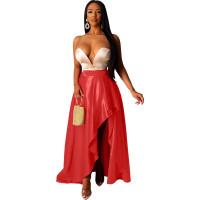 Sexy Irregular High Split Maxi Skirt