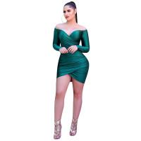 Casual Satin Deep V Dress Club Dress