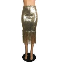 Sequins Fringed Skirt