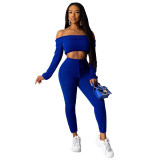 Pit Off Shoulder Crop Top and Trousers
