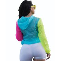 Multi-colored Sun Protection Print Blouse