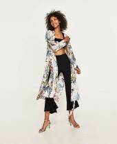 Cotton Print Cardigan Beachwear