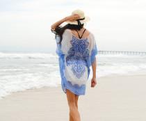 Chiffon Positioning Printed Beach Dress