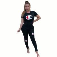 Casual Printed Sports Pant Set
