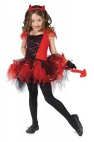 Girls Devil Tutu Dancing  Halloween Costume L15290