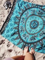 Enjoy Blue SunFlower Beach Towel Blanket L38375