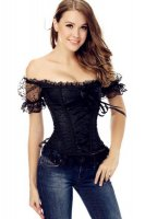 9 Plastic Bones Lace-Up Off The Shoulder Brocade Corset L42683-3