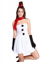 White Strapless Bubble Dress L70940