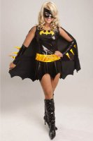 Batgirl Superhero Fancy Dress Costume L1343