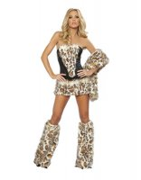 Leopard Corset, Skirt and Tail L1241