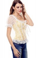 9 Plastic Bones Lace-Up Off The Shoulder Brocade Corset L42683-2