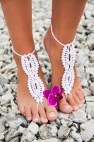 Whtie Beach Fashion Crochet Barefoot Sandals L98002-2