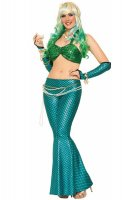 Green and Blue Mermaid Costume Set L15386-1