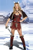 Sexy Viking Warrior Costume L1397