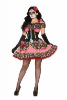 Day Of Dead Sexy Senorita Costume L15409